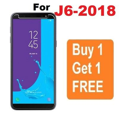 For Samsung Galaxy J6 2018 Genuine Tempered Glass Screen Protector Pack of 2