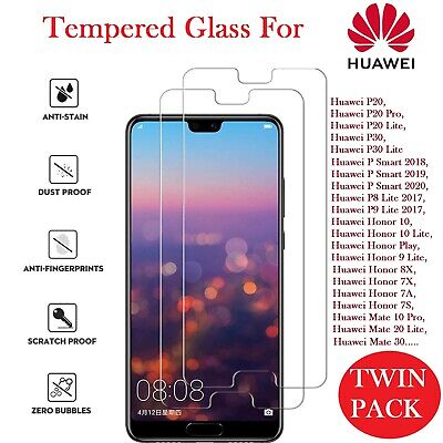 For Huawei P20 Pro Lite Tempered Glass Screen Protector Premium Protection,case