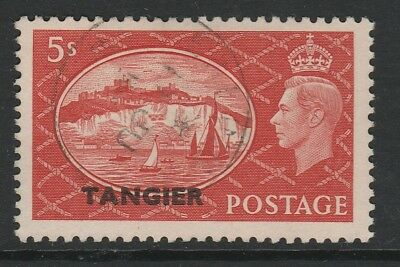 Tangier 1950 5/- Red SG 287 Fine used.