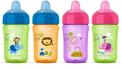 Avent My Sip N Click Sippy Cup No Spill Bottle Different Colored 2 Pack