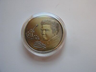 *Elvis Presley The King of Rock 'n' Roll Gold Color Collectible Coin 1935-1977