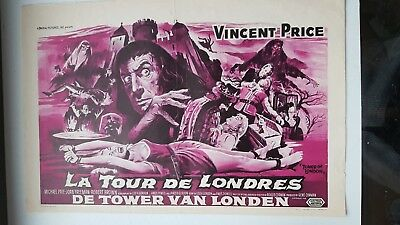 Belgian Movie Poster The Tower Of London Vincent Price Gene Corman