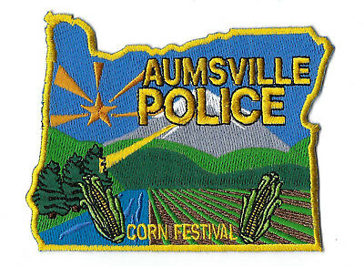 """Aumsville (Marion County) OR Oregon Police """"Corn Festival"""" patch - NEW!"""