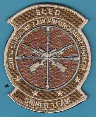 South  Carolina Sled Law Enforcement  Sniper Team Police Patch ( Hook & Loop )