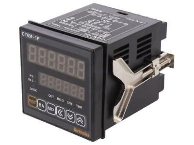 CT6M-1P4 Counter electronical 2x LED time/pulses SPDT Cutout68x68mm  AUTONICS