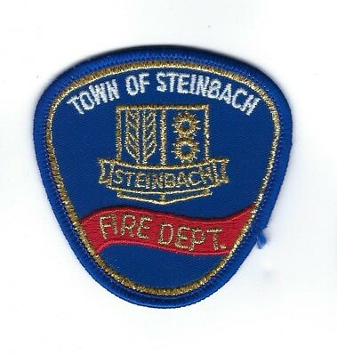 "Steinbach MB Manitoba CANADA Fire Dept. *gold border* 3"" / 7.5cm patch - NEW!"