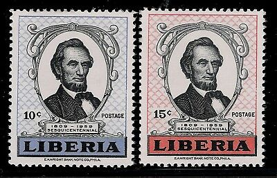 USA Established Country LIBERIA 1959 Mint Stamps - President Abraham Lincoln