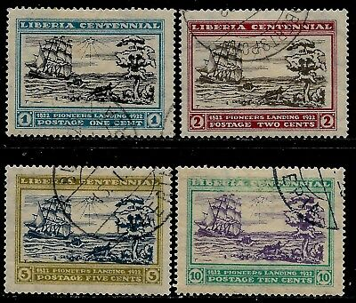 USA Established Country LIBERIA 1923 Old Stamps - Landing of First Settlers at C