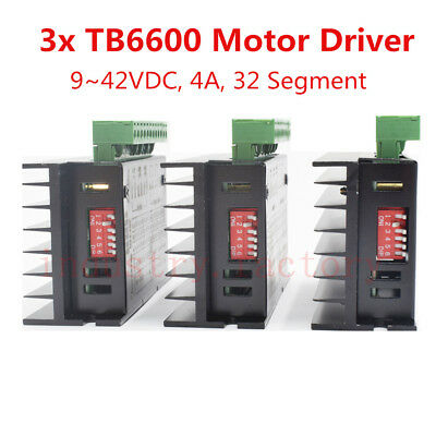 3x TB6600 Microstep Driver 9~42VDC 4A 32 Segment Stepper Motor Motion Controller