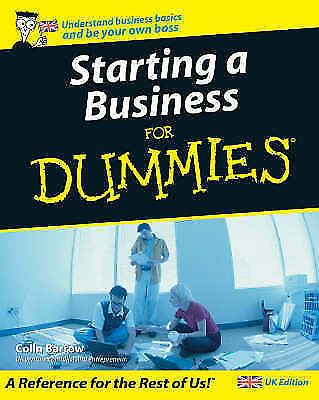 """AS NEW"" Starting a Business For Dummies, Colin Barrow, Book"