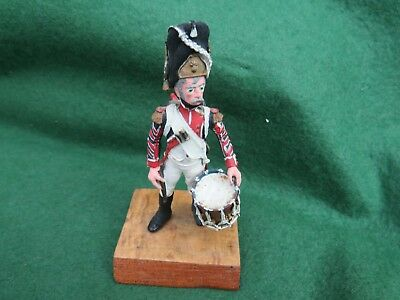Hand Painted White Metal 19Th Century French Drummer