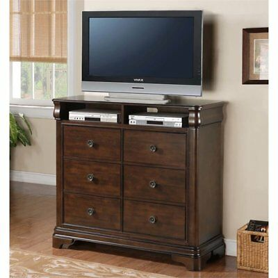 Picket House Furnishings Conley 6 Drawer Media Chest in Cherry
