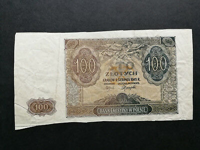 Poland,old banknote 100 Zlotych 1941,proof