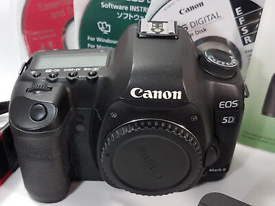 Canon EOS 5D Mark II 21.1MP Digital SLR Camera - Black (Body Only) Bundle Set