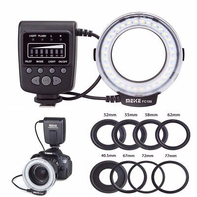 Meike FC-100 Macro Ring LED Flash/Light for Canon Nikon Olympus Panasonic Pentax