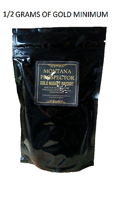 2 Lb Gold Paydirt 100% Unsearched Pay Dirt Montana 1/2 Gram Minimum