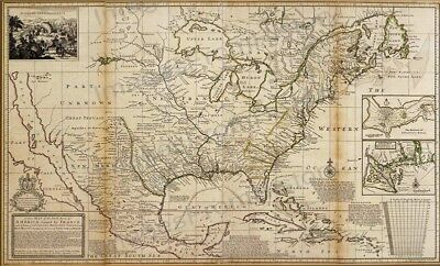 8x10 Print Historic Americas Map Claimed by France 1720 #1720