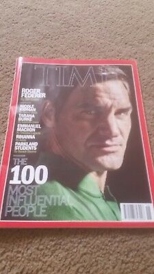 Time Magazine 100 Most Influential People Roger Federer Cover