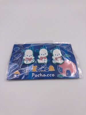 Sanrio Original: Pochacco Clip Set of 3 (D2)