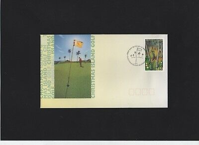 1995 Christmas Island Golf First Day Cover