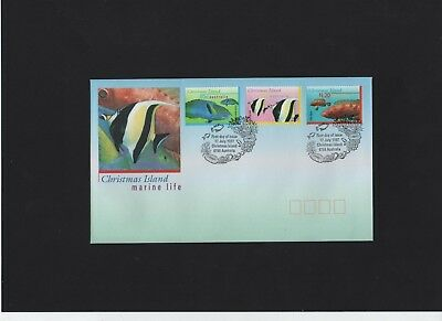 1997 Christmas Island Marine Life First Day Cover