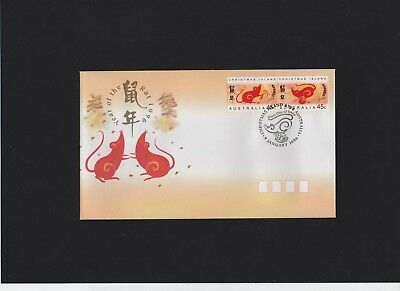 1996 Christmas Island Year of the rat First Day Cover