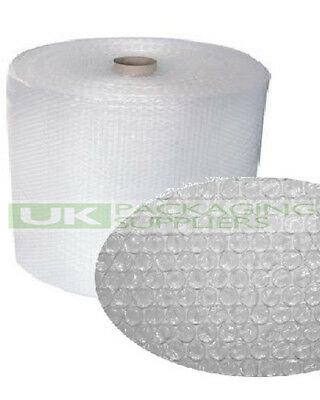 1 SMALL BUBBLE WRAP ROLL 400mm WIDE x 100 METRES LONG PACKAGING CUSHIONING - NEW