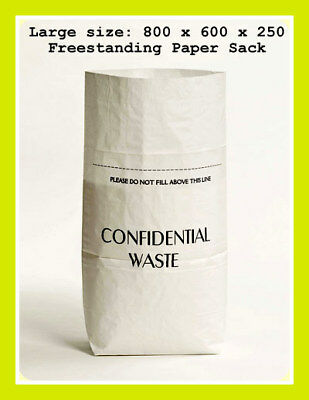 Confidential Documents Paper Waste Shredding Eco Sack Office Shredder Pack Of 5