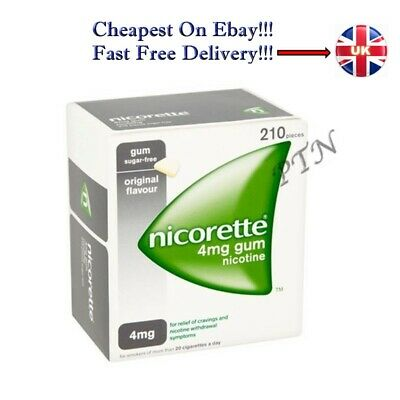 Nicorette Gum Original 4mg of 210 pieces with Multiple Packing 1 2 3 4 5 8