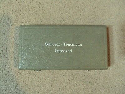 Schioetz Tonometer Improved w/ Original Certificates of Accuracy 1965 Autoclave