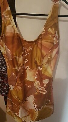 absolutely amazing ORIGINAL VINTAGE bathers swimwear RARE  Large orange Autumn