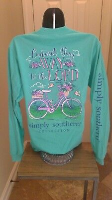 Simply Southern Long Sleeve T-Shirt: Commit Your Way To The Lord - Aruba Green