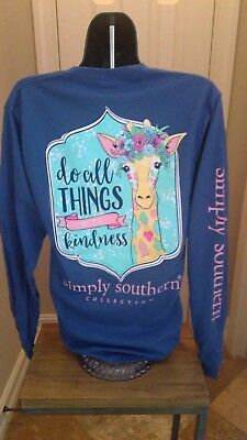 Simply Southern Long Sleeve T-Shirt: Do All Thing With Kindness (Giraffe)