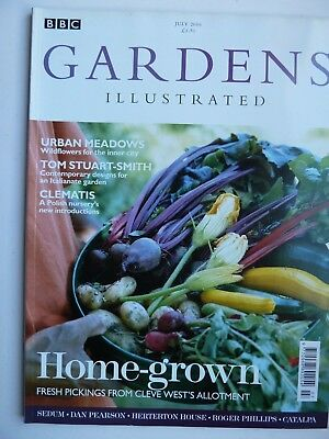 GARDENS ILLUSTRATED, JUL 06, No. 115 feat SEDUMS, CATALPA, CLEMATIS, WILDFLOWERS