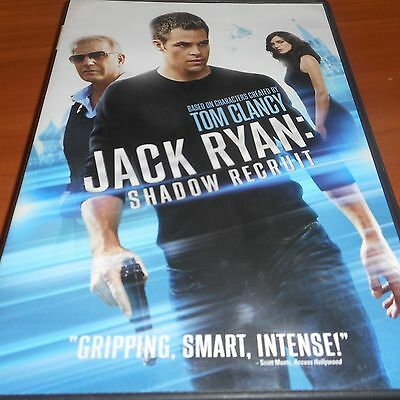 Jack Ryan: Shadow Recruit (DVD, Widescreen 2014) Chris Pine Used Kevin Costner