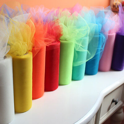 54 Colors 25/100Yard Tutu Tulle Roll Wedding Decoration Roll Spool Netting Craft