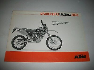 2004 Ktm 625 Sxc  Motorcycle Parts Manual Catalog -Chassis