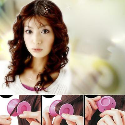 10X Women Girl DIY Silicone Hair Curler Curls Magic Roller Styling No Heat Tools