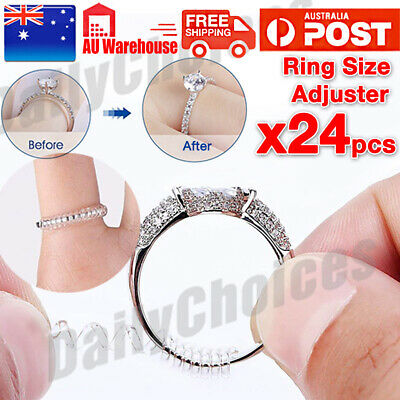12x Ring size reducers Spiral Invisible Snugs Guard RESIZER ADJUSTERS TOOLS EA
