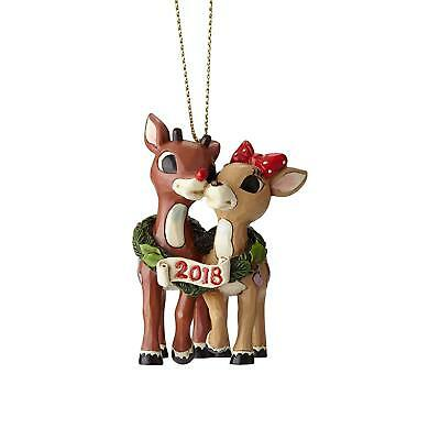 6001596 Jim Shore Rudolph Christmas Ornament Rudolph & Clarice 2018 NIB