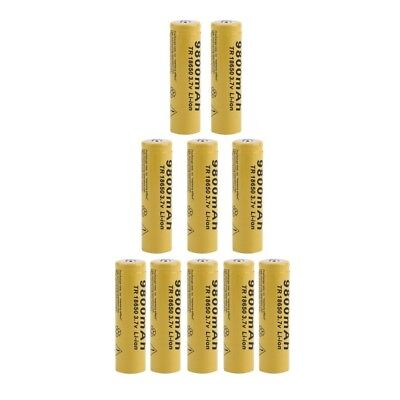 10PCS/SET Universal 18650 Li-ion Rechargeable Battery Cell 3.7V 9800MAH Replacem