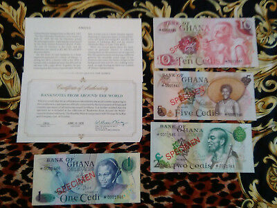GHANA COMPLETE 4 SPECIMEN SET 1976 0001946 CS1 P 13 -16 GEM UNC Birthday