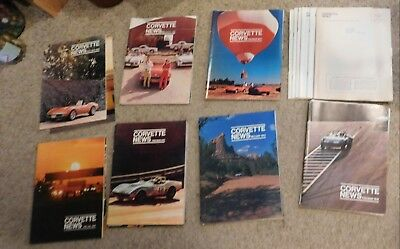 Lot of 38  Vintage Corvette News Magazine - Between 1969 & 1976 -Some Near MINT