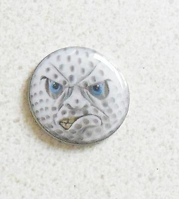 1 ONLY ANGRY FACE GOLF BALL MARKER - A QUALITY  product