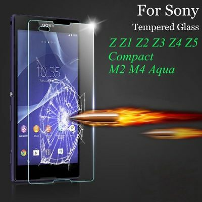 Genuine Tempered Glass Screen Film Protector For SONY XPERIA L1 L2 L3 XA XZ M5