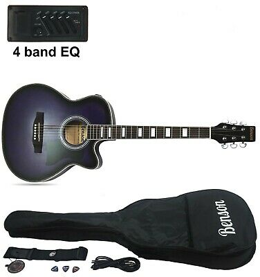 Brand new Benson Electro electric acoustic guitar (Slimline Harlem purple)