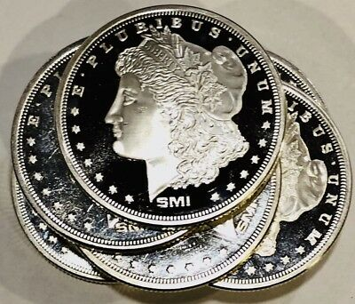 Morgan Silver Dollar SMI 1 Oz Silver Coins - 1 Troy Ounce .999 Sunshine Mint BU