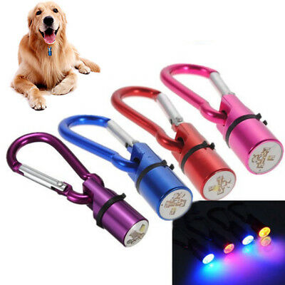 For Dog Cat Pet Flashing LED Light Blinker Safety Night Collar Tag Waterproof