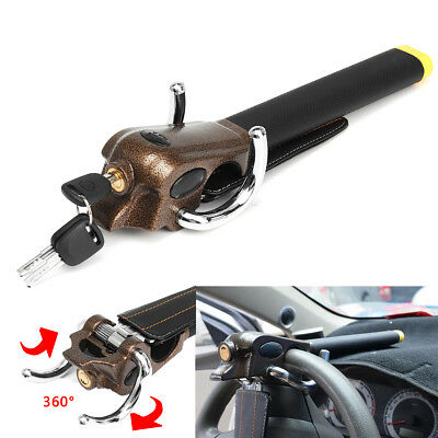 Multi-funtion Foldable Car Steering Wheel Airbag Security Lock Anti-theft + Key