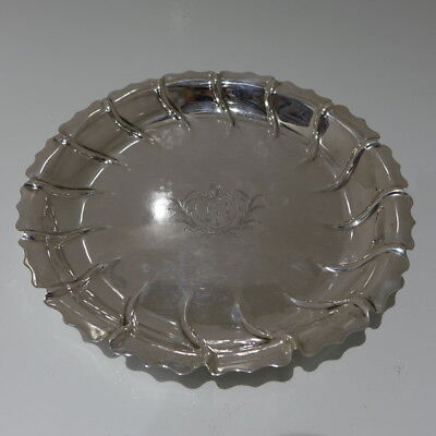 Mid 18th Century Antique George III Sterling Silver Strawberry Dish London 1765